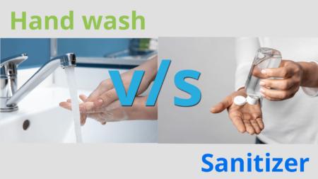 Image representing hand wash versus hand sanitizer